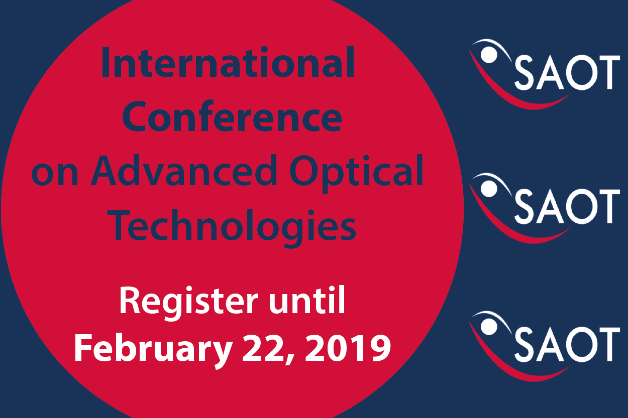 "Towards entry ""SAOT International Conference on Advanced Optical Technologies"""